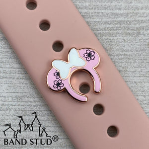 Band Stud® - Miss Mouse Ears - Cherry Blossoms  READY TO SHIP