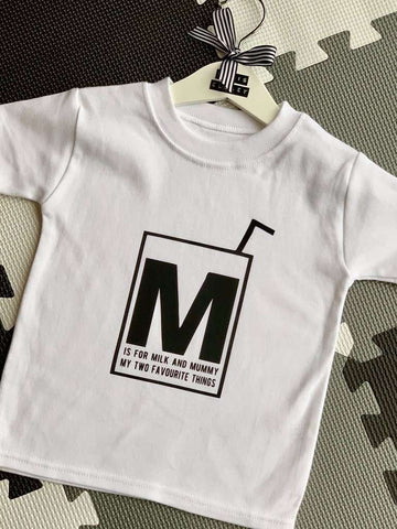 """M"" IS FOR MILK TEE"