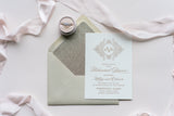Luxe Pocket Rehearsal Dinner Invitation for Any Suite!