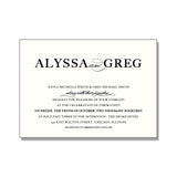 ALYSSA Wedding Invitation Suite