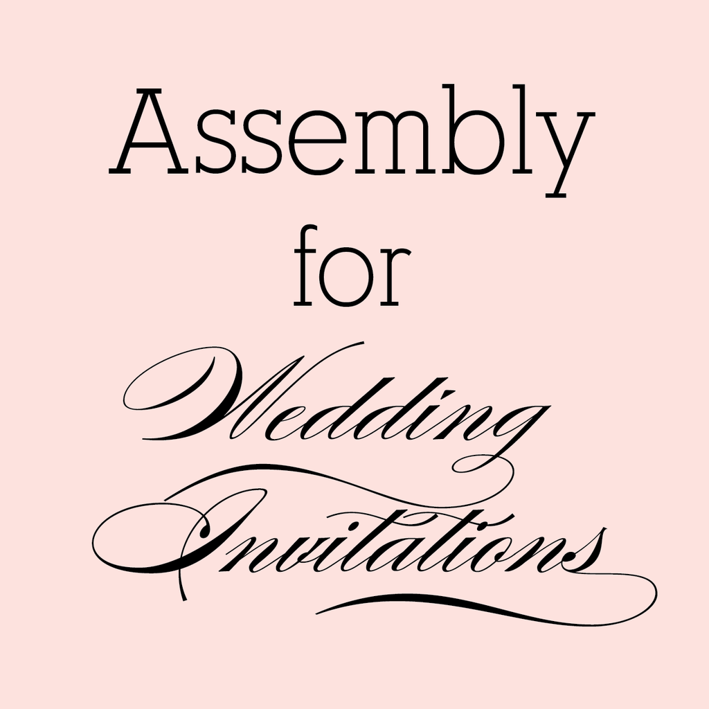 assembly for wedding invitations - Wedding Invitation Assembly