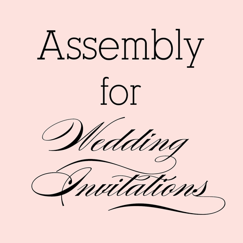 Assembly for Wedding Invitations
