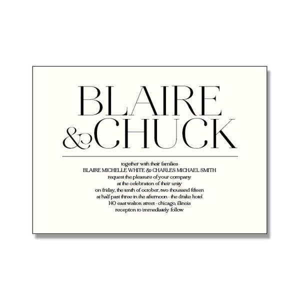 BLAIRE Wedding Invitation Suite