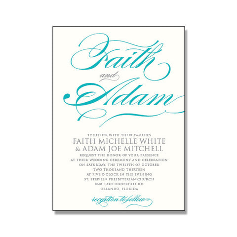 FAITH Wedding Invitation Suite
