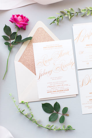 FAST TRACK // RAQUEL Rose Gold Glitter Package
