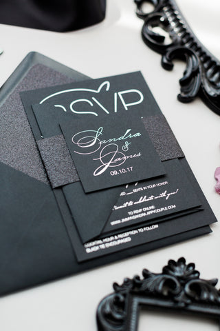 FAST TRACK // JESSICA Black Glitter Package