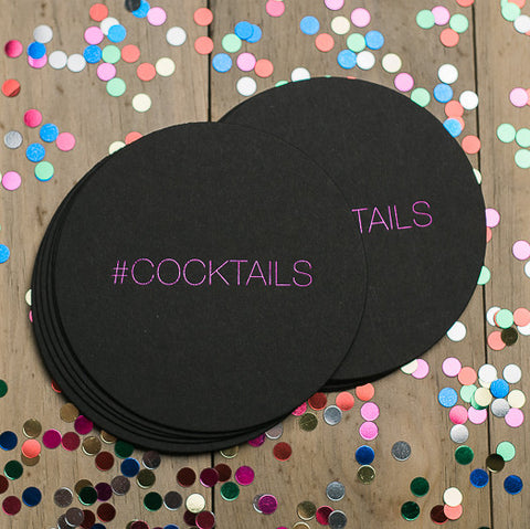 Round Foil Coasters