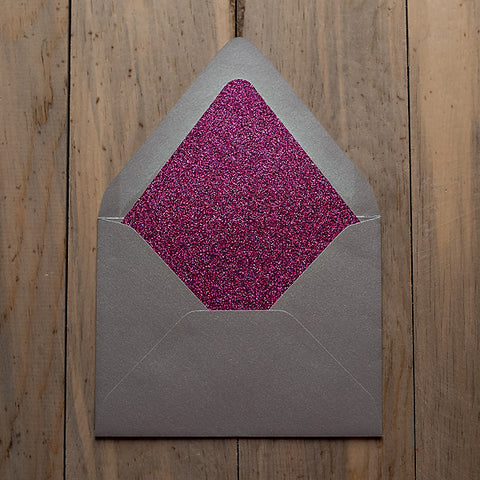 Glitter Envelope Liners: A7, A2, 4BAR, Square