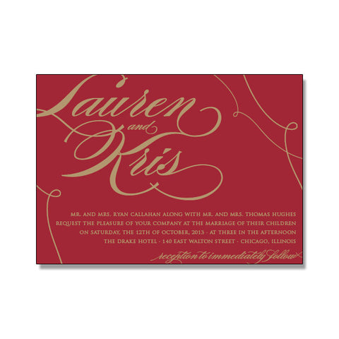 LAUREN Wedding Invitation Suite
