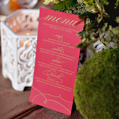 Menus for Any Suite!