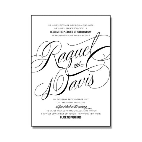 RAQUEL Wedding Invitation Suite