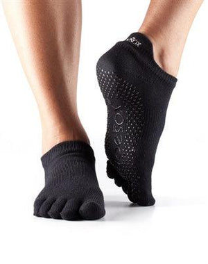 ToeSox Low Rise - Full or Half Toe - Black