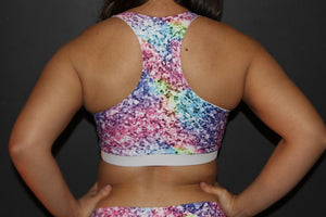 RARR Designs Racer Back Sports Bra - Glitter