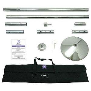 X-Pole - XPERT (NX) Pole Set - Static/Spinning - 40mm Stainless Steel