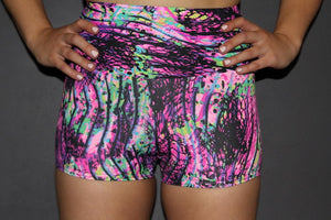 RARR Designs Fold Over Gym Shorts - Mystic PInk