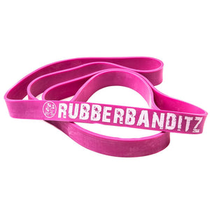 "Rubberbanditz 41"" Robust (1 1/8"") Resistance Band- Neon PInk"