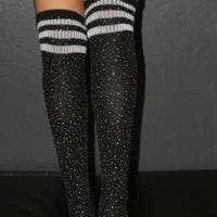 RARR Designs Rhinestone Football Socks - Various Colours