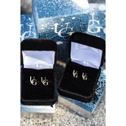 10kt UG Monogram Earrings (Large)