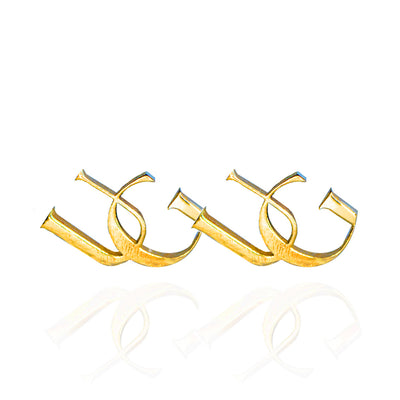 10kt UG Monogram Earrings (Small)