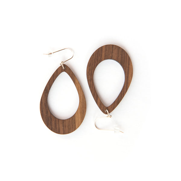 Anu Walnut Earrings