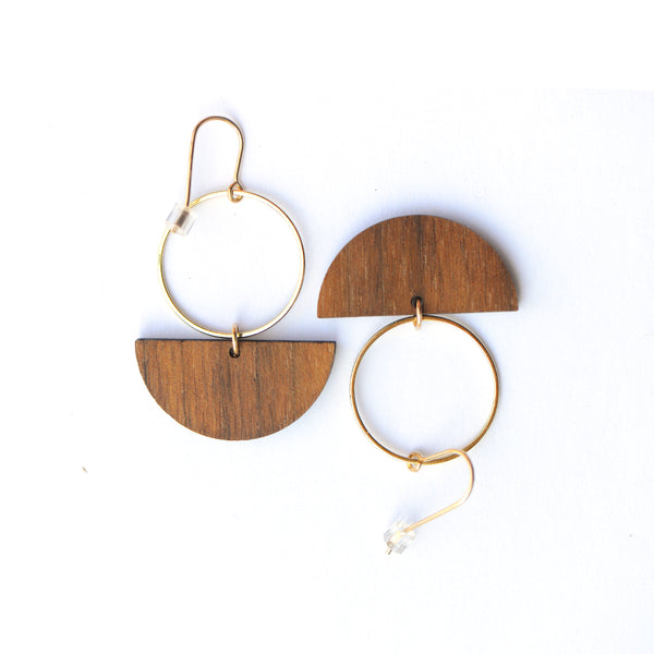 komo earrings- gold