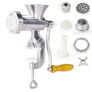 Manual Meat Grinder Sausage With Tabletop Clamp