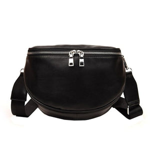 Fashion Pure Color Women Leather Bag