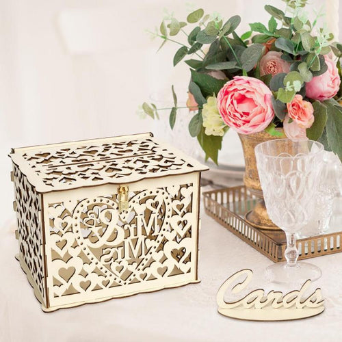 Wedding Gift Card Box with Lock