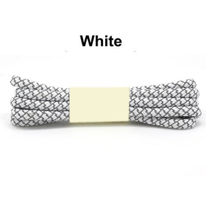 White Fluorescent Shoe Lace