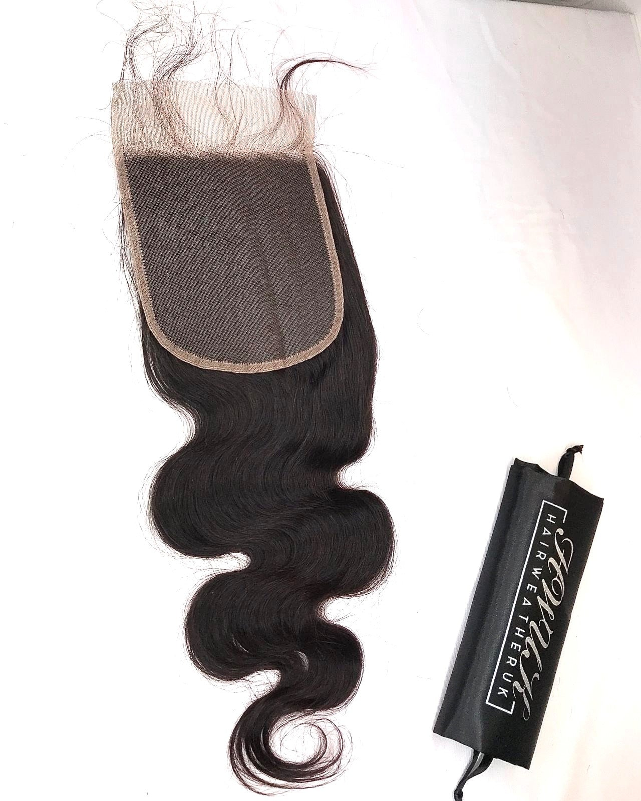 Luxe Body Wave Virgin Hair Closure - medium brown lace