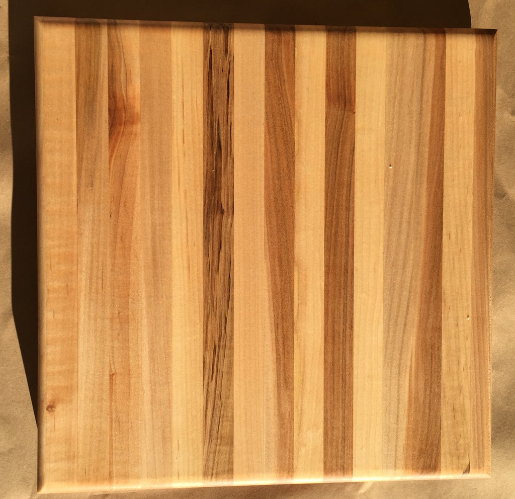 "American Maple Edge Grain Cutting Board 12.5"" by 12.5"" by 1.5"" Thick (plus feet)"