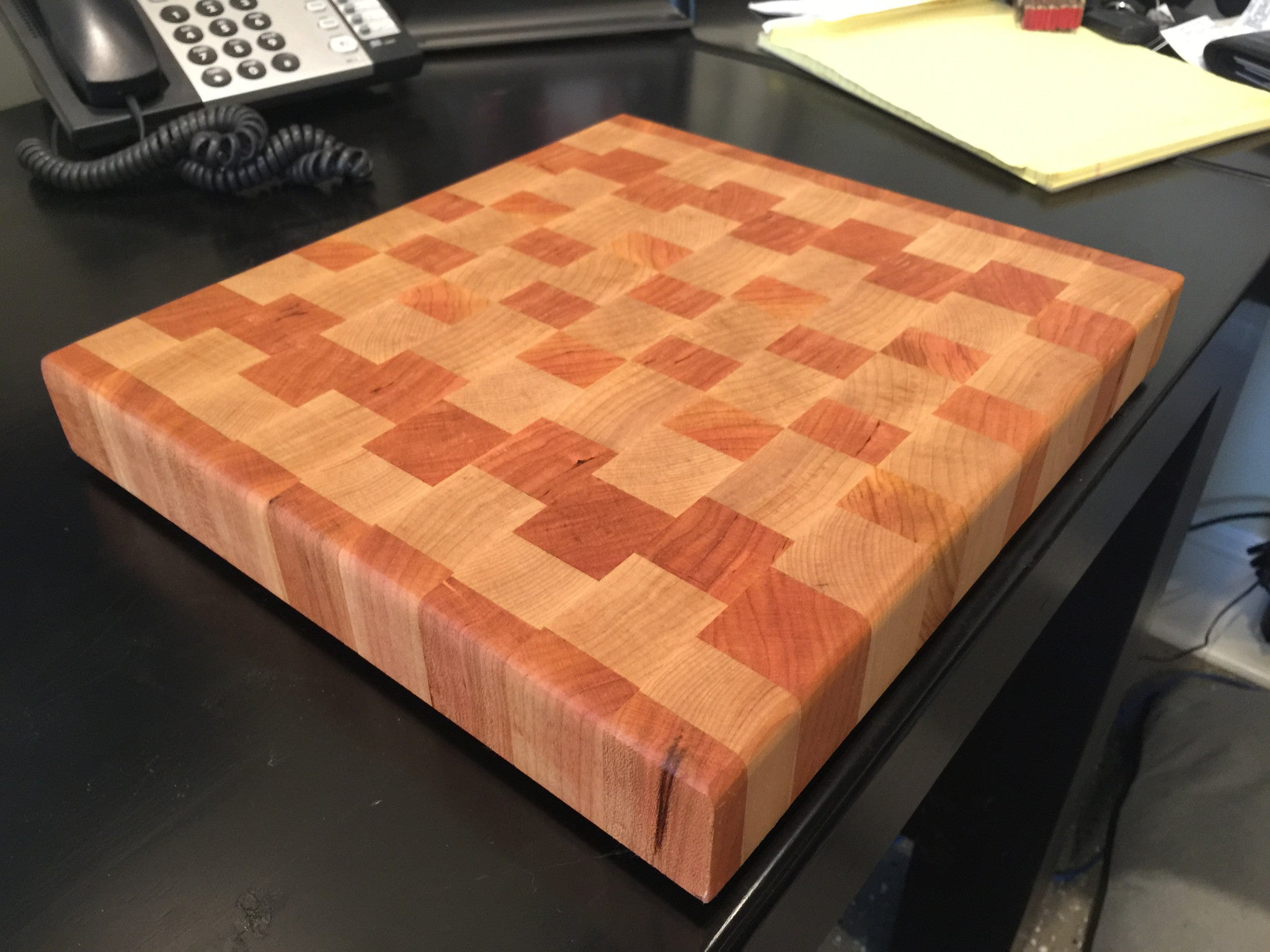 Maple and Cherry End Grain Cutting Board