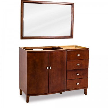 "Mahogany Modern by Jeffrey Alexander - 47"" - W/O top & bowl"