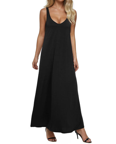 Plus Size V Neck Backless Bodycon Long Maxi Dress