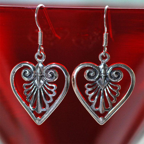 Heart of Palm Earrings