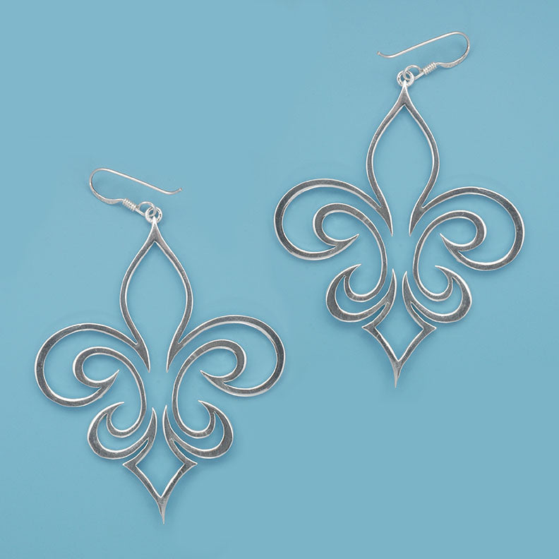 Large Cut Out Fleur Earrings