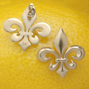 A Louisiana Fleur (Post Gold Plated Silver)