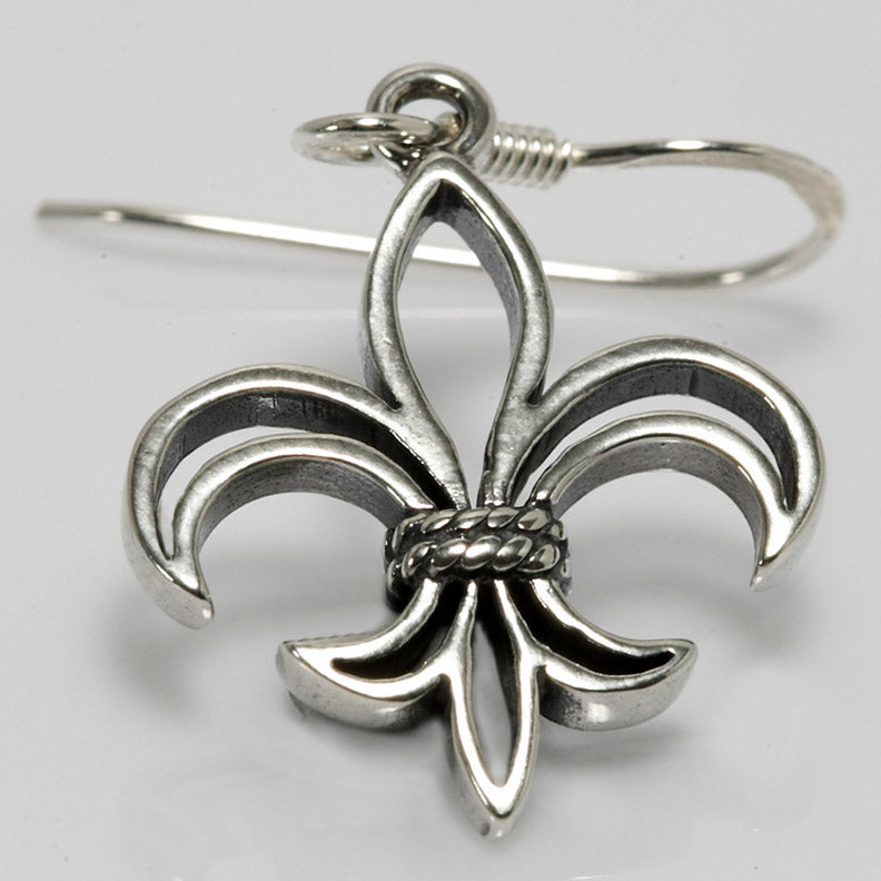 Stencil Fleur De Lis Earrings