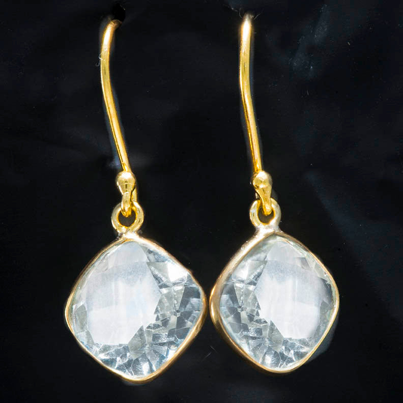 Crystal Vermeil Dangle