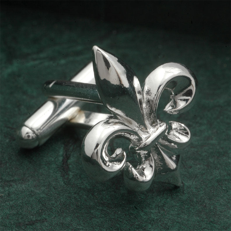 Louisiana Fleur de lys , Silver Plated Brass