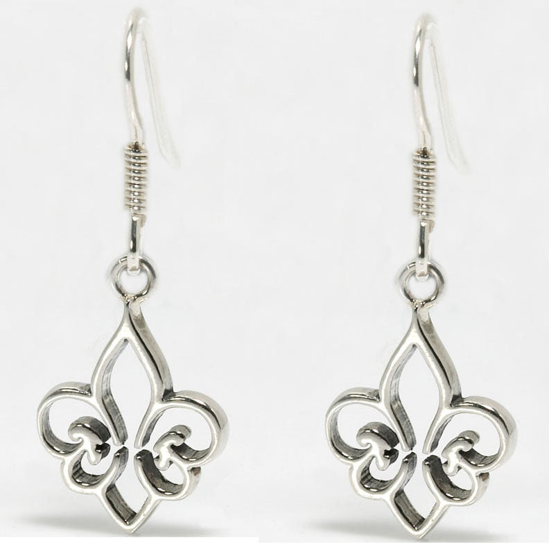 Hollow Fleur de Lis Earrings