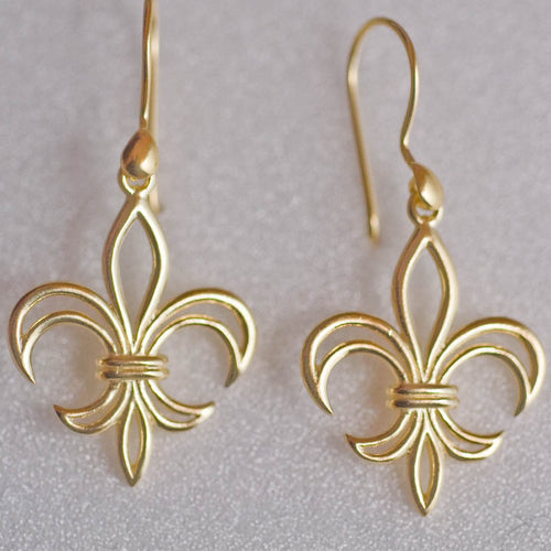 Calliope Fleur de Lis Earrings- Vermeil