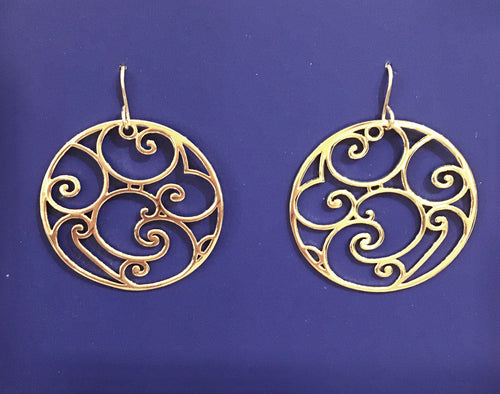 Gold Cabildo Iron Earring