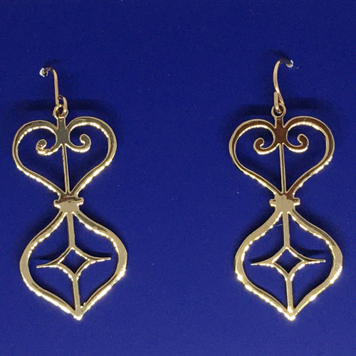 Cabildo Iron Earring Gold Plated Brass