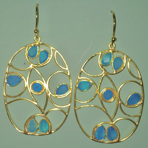 Oval with Blue Chalcedony