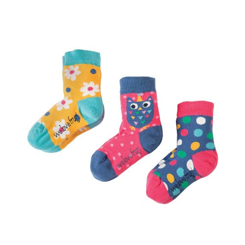 Super soft socks  3-pack Flower