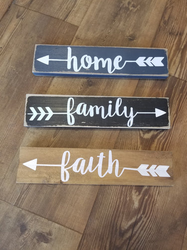 Home, Family, Love or Faith Plaque