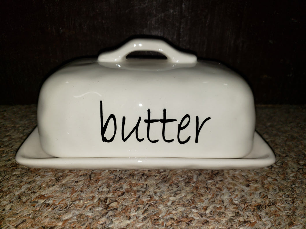 Simply Slated Butter Dish