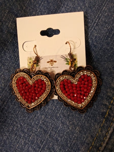 Crystal Heart Earrings 73433