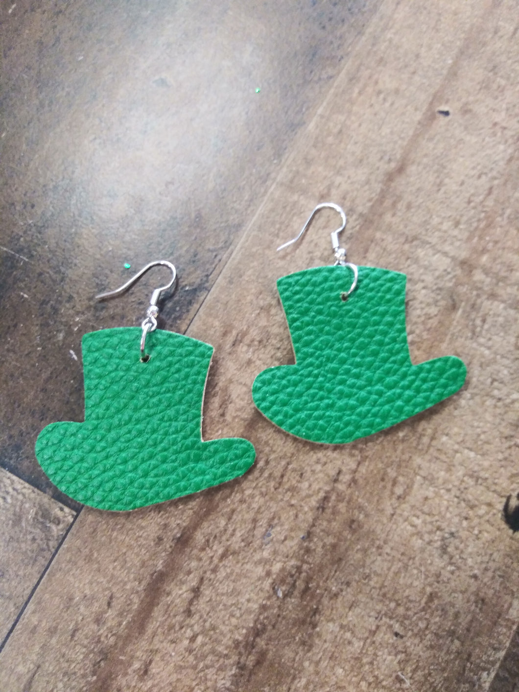 St. Patrick Faux Top Hat Earrings